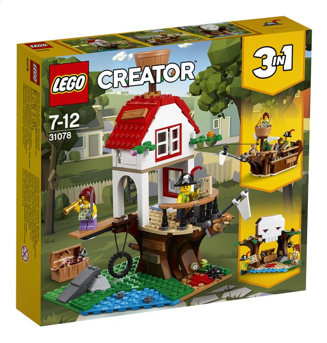 Afbeelding van LEGO Creator 3-in-1 31078 Boomhutschatten from ColliShop
