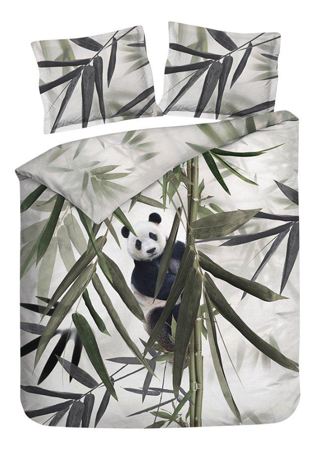 Image pour Heckett & Lane Housse de couette Satu Forest Green coton 200 x 220 cm à partir de ColliShop