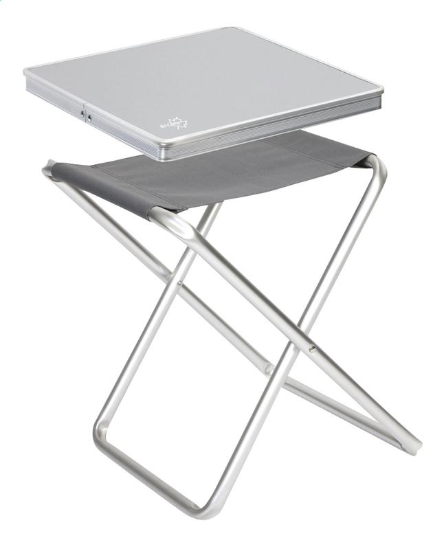Image pour Bo-Camp Tabouret de camping avec plateau gris à partir de ColliShop