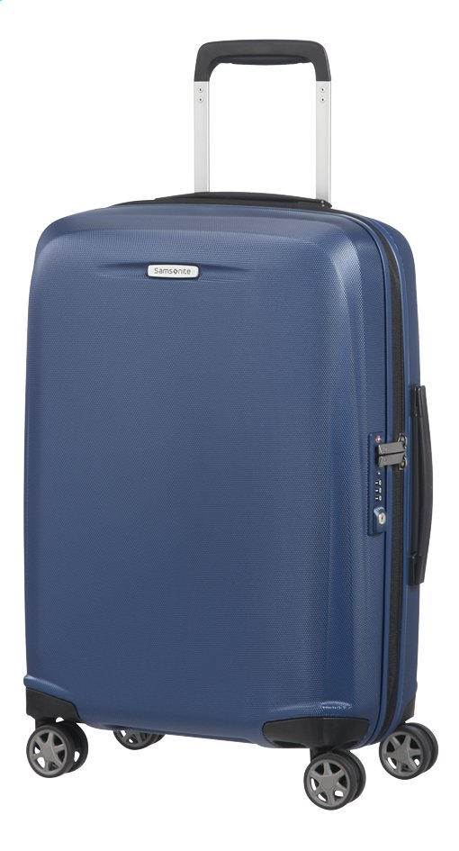 Afbeelding van Samsonite Harde reistrolley Starfire Spinner blue 55 cm from ColliShop