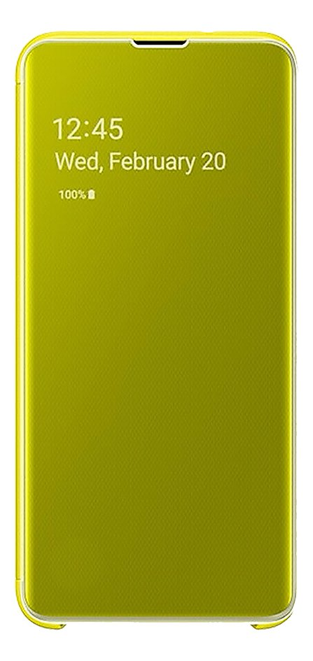 Afbeelding van Samsung Foliocover Clear View Cover voor Galaxy S10e yellow from ColliShop