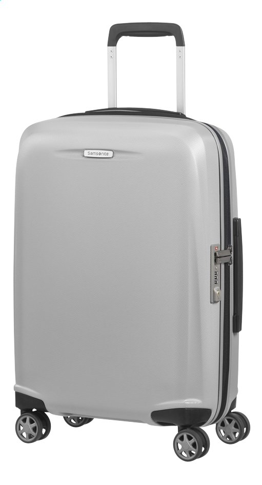Afbeelding van Samsonite Harde reistrolley Starfire Spinner silver 55 cm from ColliShop
