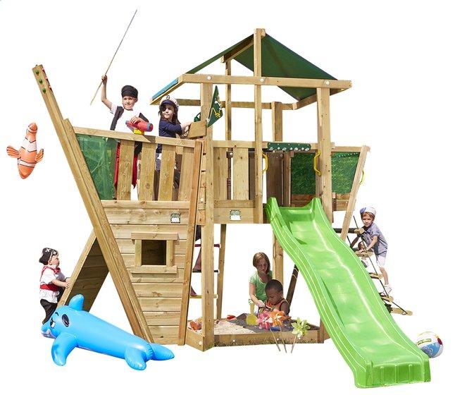 Image pour Tour de jeu en bois De Hut avec bateau et toboggan vert à partir de ColliShop