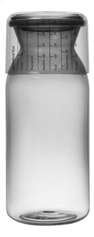 Brabantia Boîte à provisions avec bol-couvercle gradué dark grey 1,3 l