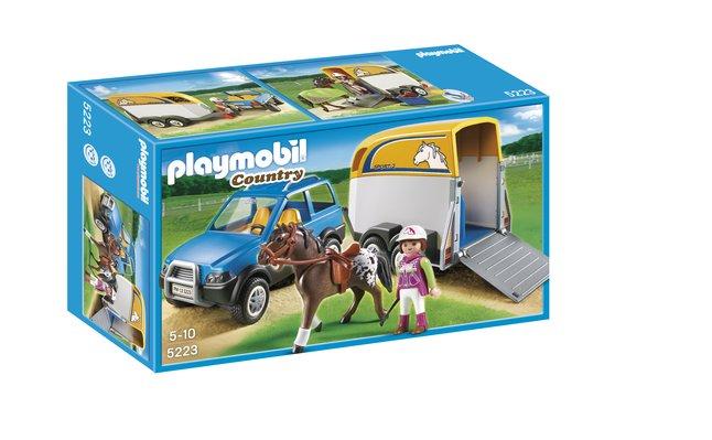 Afbeelding van Playmobil Country 5223 Voertuig met paardentrailer from ColliShop