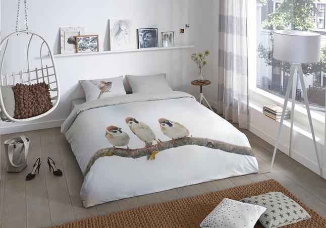 Image pour Good Morning Housse de couette Sparrow flanelle 200 x 220 cm à partir de ColliShop