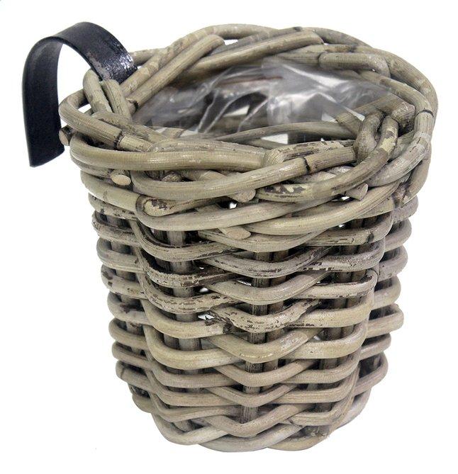 Image pour Jardinière de balcon panier en rotin rond à partir de ColliShop
