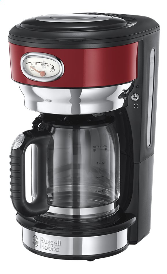 Russell Hobbs Percolateur Retro Red Glass 21700-56