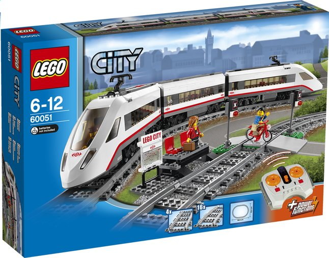 Image pour LEGO City 60051 Le train de passagers à grande vitesse à partir de ColliShop