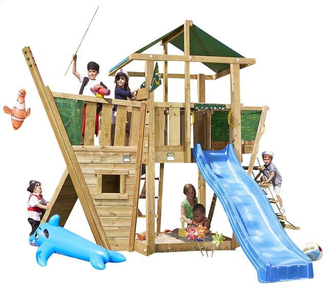 Image pour Tour de jeu en bois De Hut avec bateau et toboggan bleu à partir de ColliShop