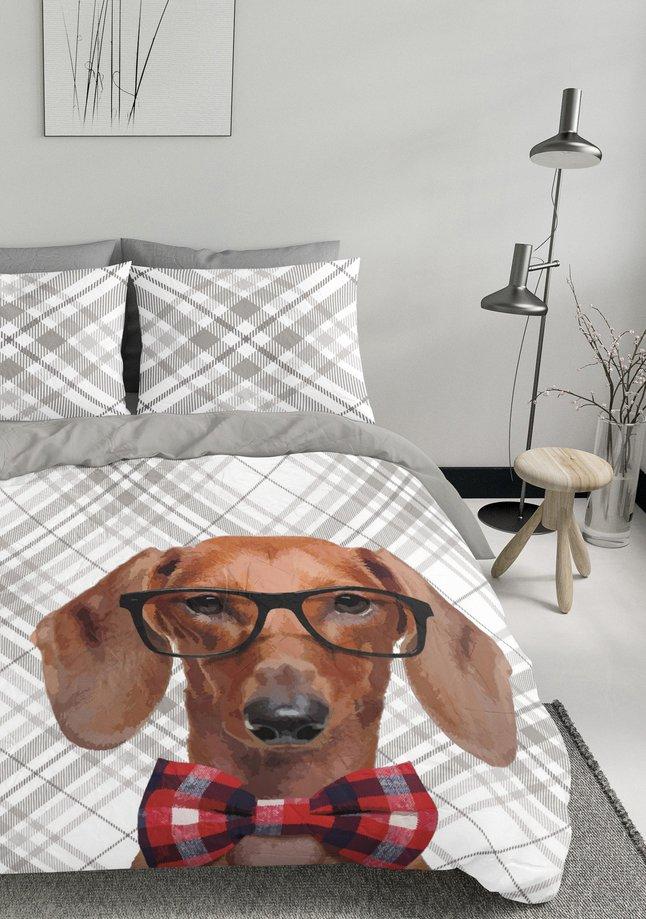 Afbeelding van Nightlife Dekbedovertrek Dog Bowtie katoen/polyester from ColliShop
