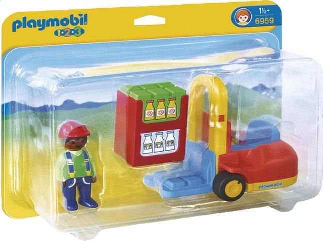 Afbeelding van Playmobil 1.2.3 6959 Vorklift met lading from ColliShop