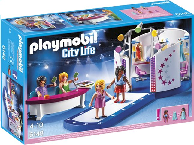 e fr cs playmobil city life  podium pour casting de mode