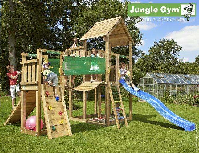 Image pour Jungle Gym tour Palace avec pont et toboggan bleu à partir de ColliShop
