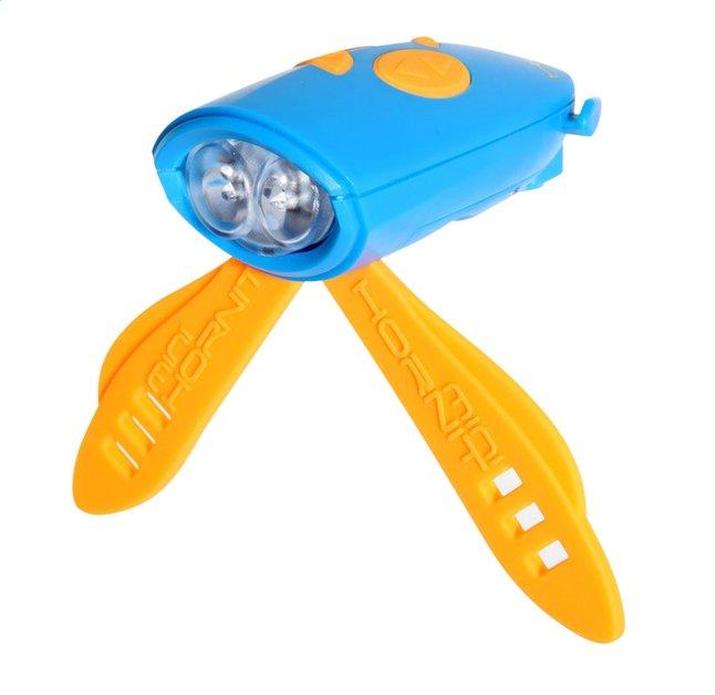 Afbeelding van Mini Hornit fietslamp met bel blauw/oranje from ColliShop