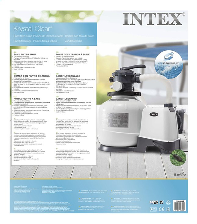 Intex filtre à sable Krystal Clear 7,2 m³/h