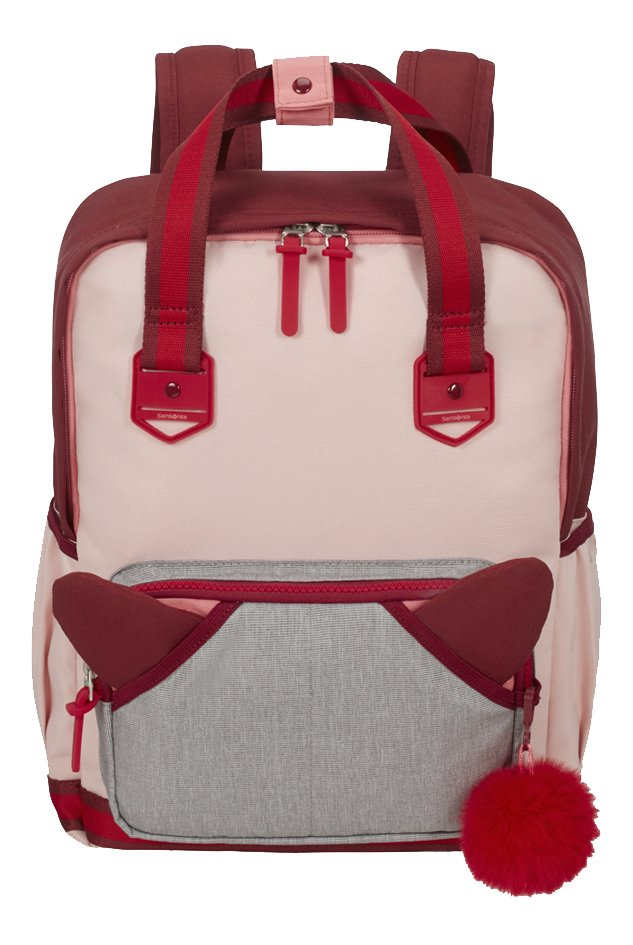 Afbeelding van Samsonite rugzak School Spirit M Burgundy Pink Mascot from ColliShop