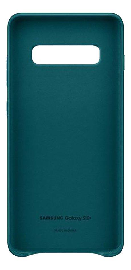 Afbeelding van Samsung Leather Cover voor Galaxy S10+ green from ColliShop