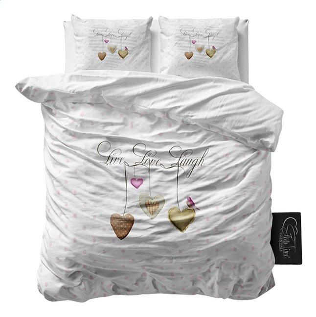 Afbeelding van Sleeptime Essentials Dekbedovertrek Live, Love, Laugh 2 microvezel 240 x 220 cm from ColliShop