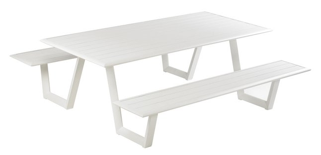 Afbeelding van Ocean Picknicktafel Mats wit from ColliShop