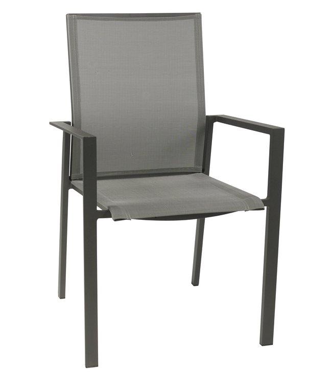 Jati kebon chaise de jardin calvin gris argent for Chaise de calvin