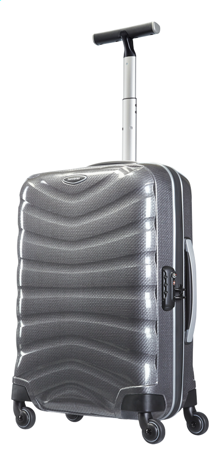 Afbeelding van Samsonite Harde reistrolley Firelite Spinner grey 55 cm from ColliShop