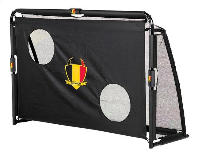 Afbeelding van EXIT voetbaldoel met doeltrainingswand Maestro België zwart from ColliShop