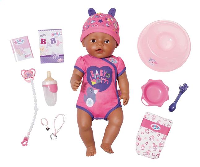 79100e91c89 Afbeelding van BABY born interactieve pop Soft touch Meisje paars from  ColliShop