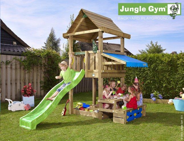 Image pour Jungle Gym tour en bois House avec pique-nique et toboggan vert à partir de ColliShop