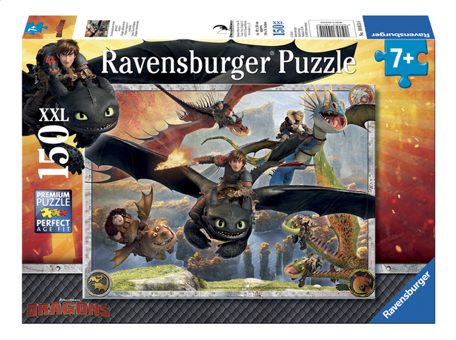 Image pour Ravensburger puzzle XXL Dragons En formation de vol à partir de ColliShop