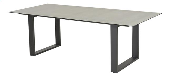 Ocean table de jardin Ely Charcoal L 220 x Lg 100 cm