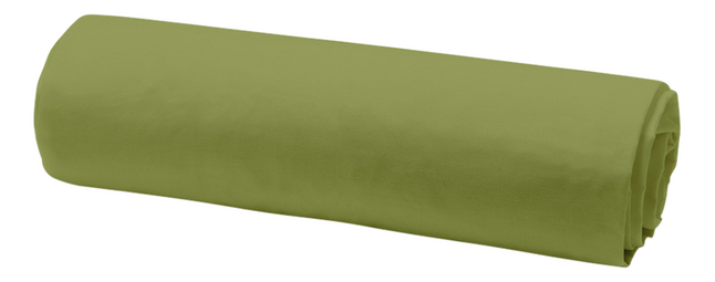 Today Hoeslaken Uni bamboegroen katoen 90 x 200 cm