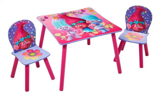 Image pour Table avec 2 chaises pour enfants Trolls à partir de ColliShop