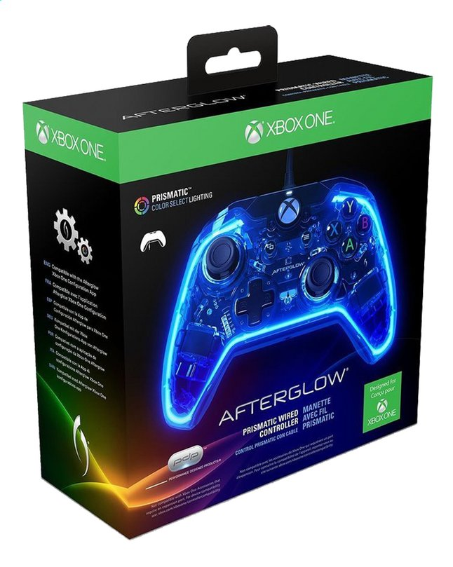 Afbeelding van XBOX One controller PDP Prismatic Wired Afterglow from ColliShop