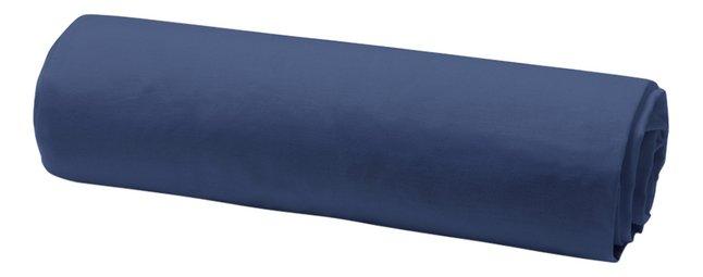 Today Hoeslaken Uni donkerblauw katoen 180 x 200 cm