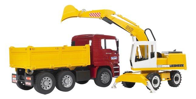 Image pour Bruder camion à benne & pelleteuse Man TGA à partir de ColliShop