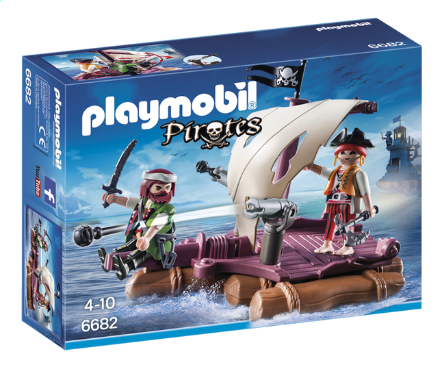 Afbeelding van Playmobil Pirates 6682 Piratenvlot from ColliShop