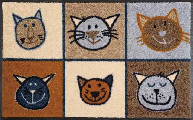 Afbeelding van Wash+dry Deurmat Miau Miau 50 x 75 cm from ColliShop