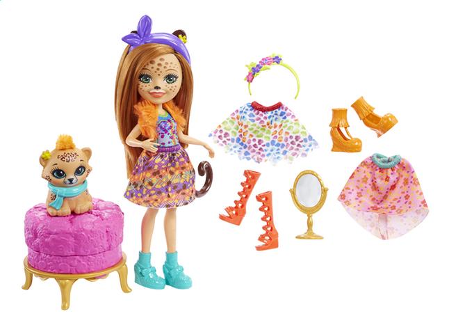 Enchantimals speelset Fashion Cherish Cheetah - 15 cm