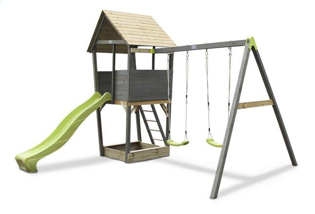 Image pour EXIT portique en bois avec toboggan vert à partir de ColliShop
