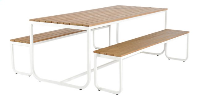 Uitgelezene Picknicktafel en 2 banken eucalyptus - Koop nu aan goedkope EJ-59