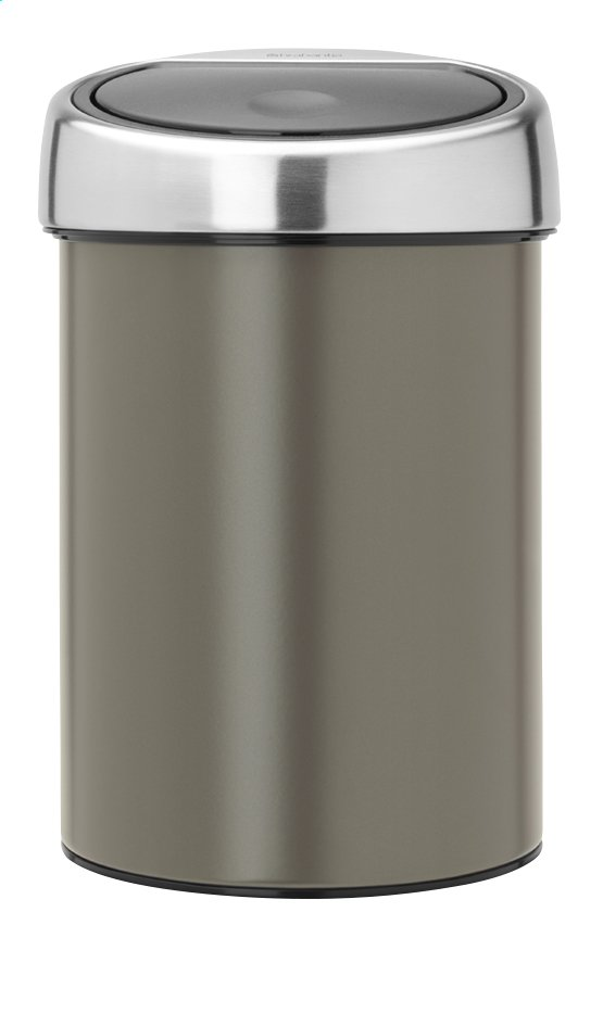 Afbeelding van Brabantia Afvalemmer Touch Bin platinum 3 l from ColliShop
