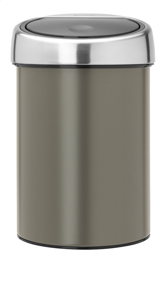 brabantia poubelle touch bin platinum 3 l collishop. Black Bedroom Furniture Sets. Home Design Ideas