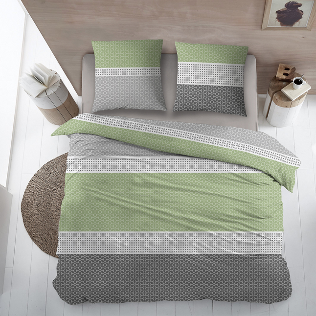 Image pour Housse de couette Zürich coton green 270 x 220 cm à partir de ColliShop