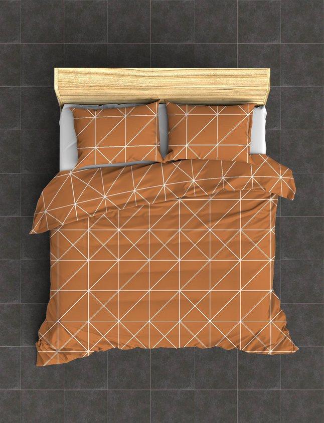 Image pour Housse de couette Denmark coton brick 240 x 220 cm à partir de ColliShop