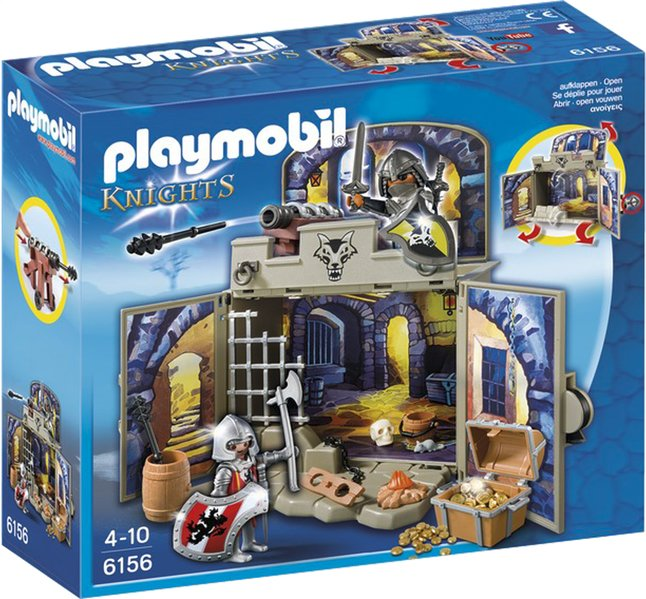 Afbeelding van Playmobil Knights 6156 Speelbox Ridder schatkamer from ColliShop