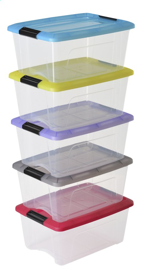 Image pour Iris Boîte de rangement transparent 15 l - 5 pièces à partir de ColliShop