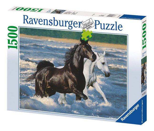 Afbeelding van Ravensburger puzzel Paarden op het strand from ColliShop