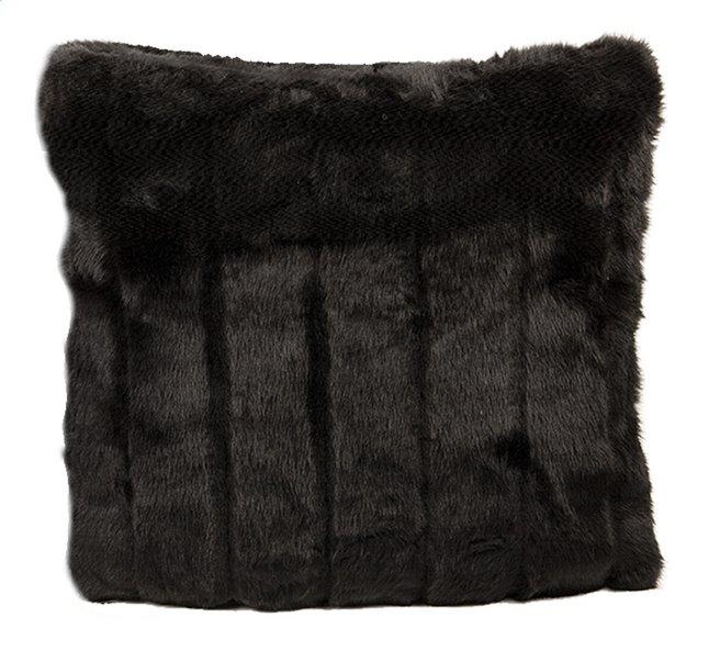 Afbeelding van In the Mood collection Sierkussen Kortharig imitatiebont zwart from ColliShop