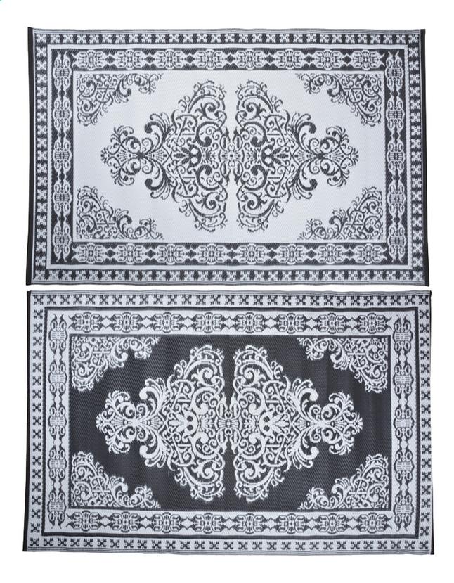 Afbeelding van Esschert Buitentapijt Perzisch motief 186 x 120 cm zwart/wit from ColliShop